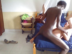 African young teen fucks older white man bareback