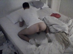 Catch by Hidden Cam Riding Dildo on Bed