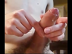 Closeup Teen Boy Cums