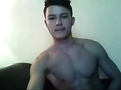 Handsome sexy young stud cam fun - Visit and follow twitter @camhunter1069 for his cumshot