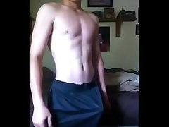 Skinny twink show biggest cock