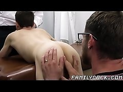 Big cocked doctor barebacking and creaming twinks asshole